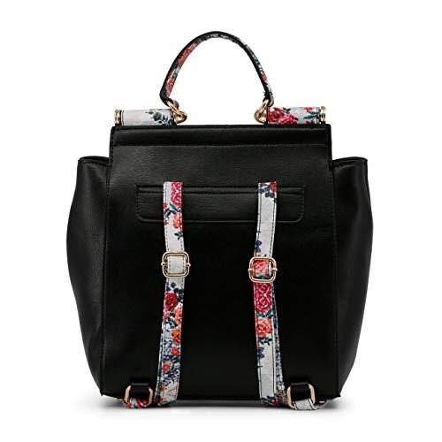 Designer Biagiotti Rucksacks Women Black Laura Genuine Fashion Backpacks xpwYdwPTFq