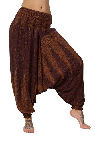 Donna ThaiUK Feather ThaiUK Pantaloni Pantaloni Brown 7StxS6