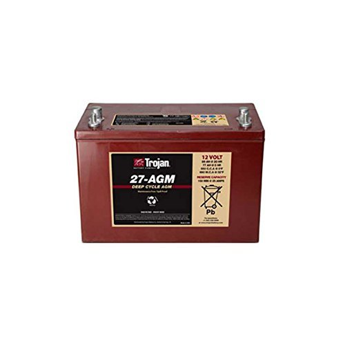 Trojan T27-AGM 12V 89Ah Group 27 Dual Purpose Deep Cycle Battery FAST USA SHIP