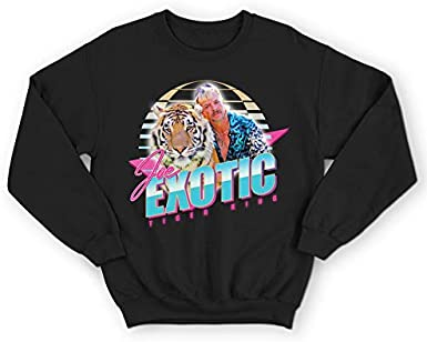 Sanfran Clothing Exotic Vibes Only Top The Tiger King Joe Cat Rescue TV Show Series Retro 80s Jumper Sweater