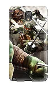 New Style CaseyKBrown Hard Case Cover For Galaxy Note 3- Teenage Mutant Ninja Turtles Out Of The Shadows Game