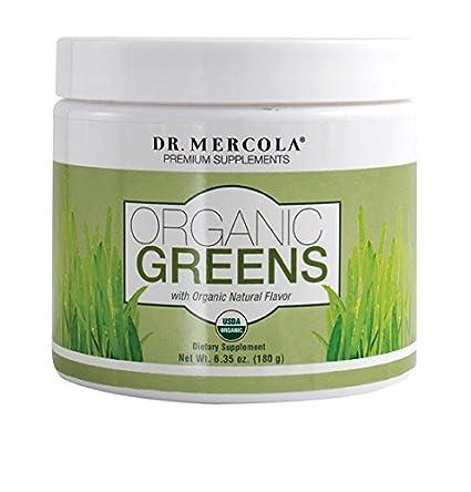 Dr Mercola Organic Verduras, Polvo, 180g (polvo, 180g)