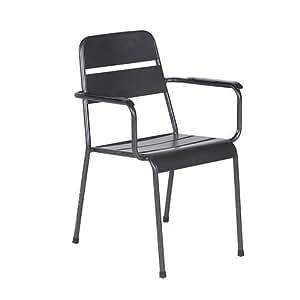 Nube sillón al aire libre jardín silla de comedor con estilo moderno (material: aluminio, ligera), Royal Grey