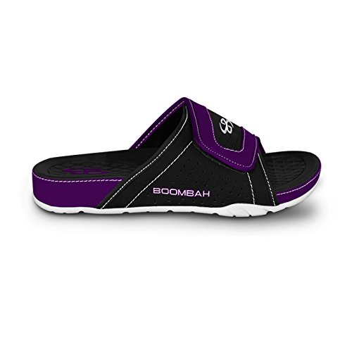 Boombah Mens Tyrant Slide Sandals - 32 Color Options - Multiple Sizes Black/Purple SC2AB