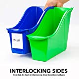 Storex Large Book Bin, Linking Storage Bin, Dry
