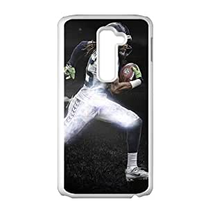 SANLSI Richard Sherman Dark Stadium White Phone Case for LG G2