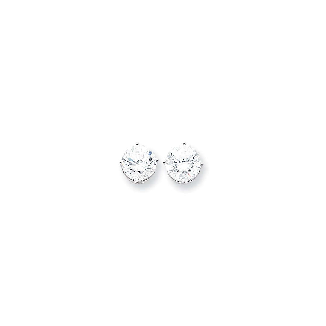 ICE CARATS 14k White Gold 10mm Cubic Zirconia Post Stud Ball Button Earrings Gemstone Fine Jewelry Ideal Mothers Day Gifts For Mom Women Gift Set From Heart