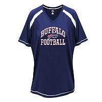 Profile Big & Tall NFL Buffalo Bills Unisex Short Sleeve Raglan Tee, Royal/White, 4X