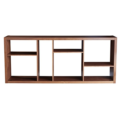 (Euro Style 09702WAL Reid Shelving and Media Stand, Walnut)