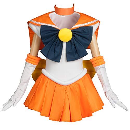 Cosfun Girls Best Sailor Venus Aino Minako Cosplay Costume K-mp000348 (Kid 3XS) -
