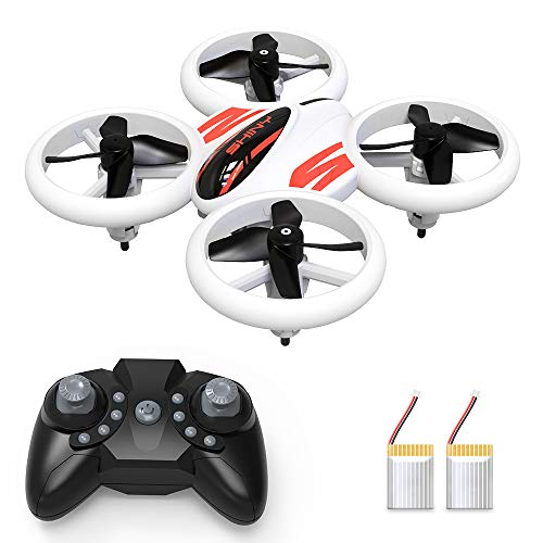 Mini Drone for Kids and Adults, RC Quadcopter LED UFO 4 Channel 2.4 Ghz 6-Axis Gyro Helicopter with Altitude Hold, GPS Return Home, Long Flight Time Beginner Drone, Easy Flying Toys for Boys or Girls