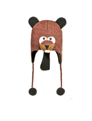 Beaver Costume Hat (Cute Beaver Child's Knitted Hat Age 3 - 6)