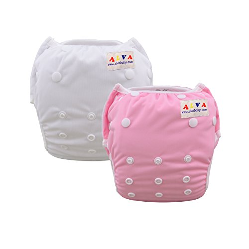 ALVABABY Girl Swim Diapers One Size Reuseable & Adjustable 2pcs SWB09-18