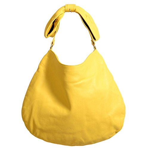 Red Valentino Women's Yellow 100% Leather Bow Shoulder Hobo Bag (Bag Bow Valentino)