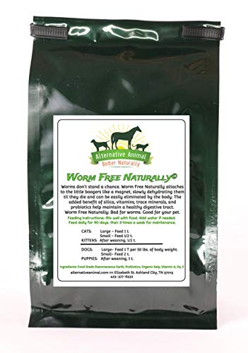 Alternative Animal Worm Free Naturally Natural Cat Wormer - Natural Cat Wormer for All Worms (Bloody Worms)