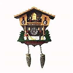 Refrigerator Magnets Resin 3D Funny Pinecone Cuckoo Clock Switzerland City Tourist Souvenirs Fridge Stickers Magnetic Fridge Magnet for Whiteboard Home Kitchen Decoration Accessories Gifts