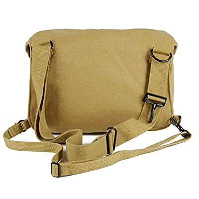 Oleader WW2 US Lightweight M6 Gas Mask Bag WWII Canvas Shoulder Bag Khaki from Oleader
