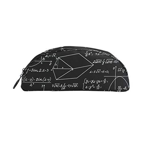 DERLONKAJE Algebra Geometry Abstract Math Zipper Pen Pencil Case Bag Pouch for Kids Girls Boys Teens Adult -