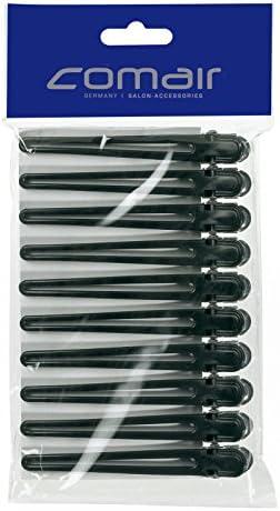 Comair 3150049 Haarclips Plastik/Aluminium, 10 Stück, schwarz, 95 mm