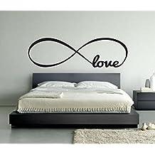 Love Infinity Symbol Bedroom Wall Decal Sticker Art Decor Home Vinyl Lettering