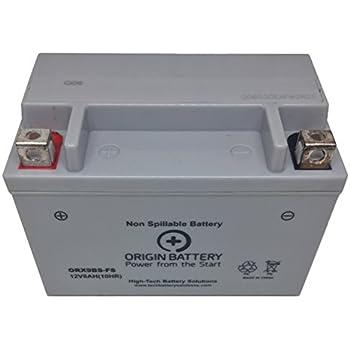 Mighty Max YTX9-BS 12V 8AH Battery for ATV Kawasaki KFX400 12V 2Amp Charger