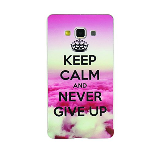 """A3 Case, Galaxy A3 Case Cover, Moon mood® 2-in-1 Case for Samsung Galaxy A3 4.5"""" Silver Aluminium Alloy Metal Frame Bumper & Sliding Polycarbonate Plastic Backplane Ultra-thin Slim Colorful Painting Protector Cover Shell (Crown Pink Cloud)"""