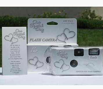 Amazon.com : 10 Pack Happy Hearts Wedding Party Disposable Cameras ...