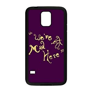 Nymeria 19 Customized We're All Mad Here Diy Design For Samsung Galaxy S5 Hard Back Cover Case DE-162