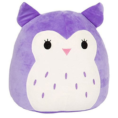 Kellytoy Squishmallow 8 Inch Holly the Purple Owl Super Soft Plush Toy Pillow Pet