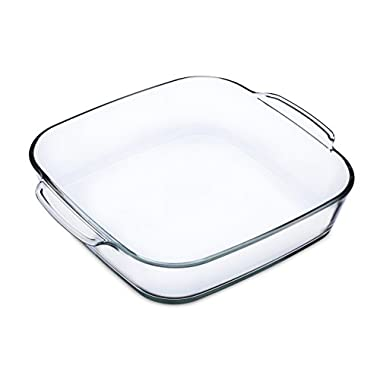 Simax Glassware 7286 1.5-Quart Square Roaster Pan, Small