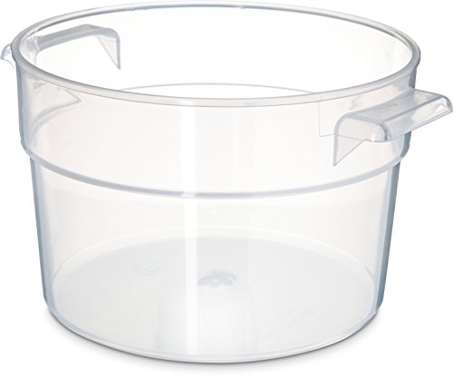 2 Quart Round Storage Container - Carlisle 020530 Bains Marie Round Storage Container Only, 2 Quart, Translucent