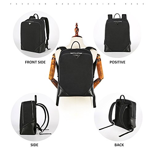 Business Water Resistant Laptop Backpack School College Student Computer Backpacks Fits Under 15.6 Inch Laptops Bag for Women and Men Lightweight Notebook Bags by ANDY GRADE - Black Now Andy