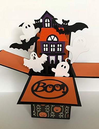 pop up haunted house halloween card halloween pop up card halloween party invitation