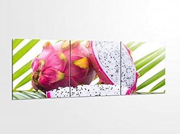 Amazon.de: Acrylglasbilder 3 Teilig 150x50cm Drachenfrucht Obst ...