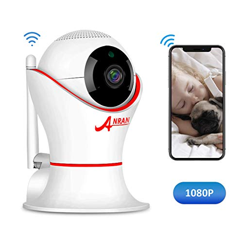 HD 1080P 360 Home Wireless Security Dome IP Camera with 3D Navigation Panorama View Night Vision Two-Way Audio, Motion Detection, Indoor Surveillance for Home, Baby, Elder, (Network Dome Camera Digital Video)