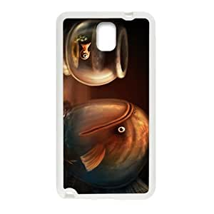 Creative Fish Pattern Custom Protective Hard Phone Cae For Samsung Galaxy Note3