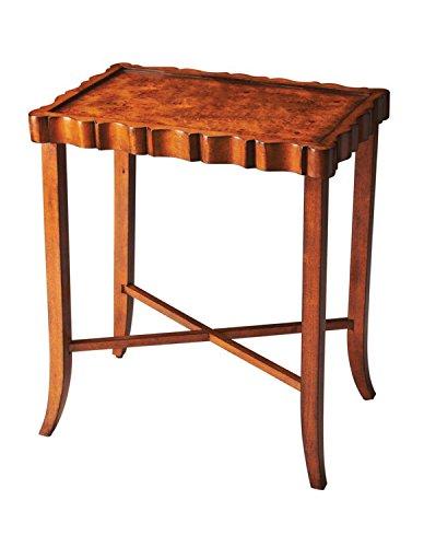 BUTLER 5016101 DEVON OLIVE ASH BURL TEA TABLE (Ash Desk Burl)