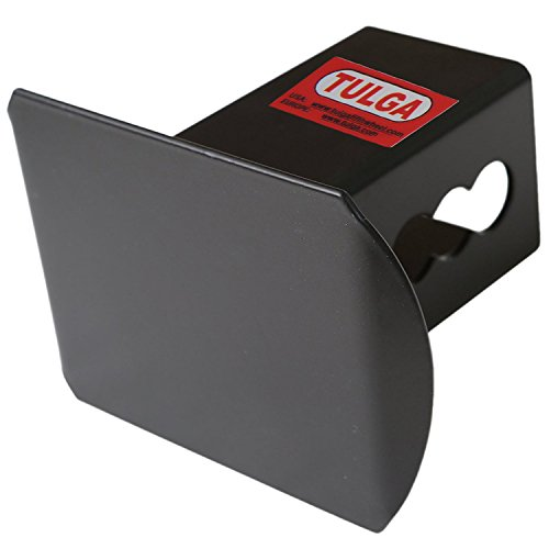 Tulga Fifth Wheel Co Steel Hitch Cover Black Matte Blank Tube Metal Trailer Towing Hitch Cover for 2