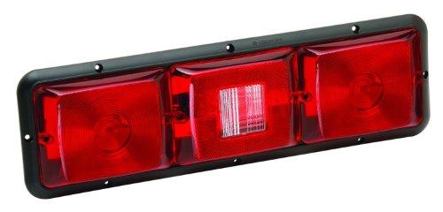 Bragman 84 Series Standard Taillight (Recessed Triple Long Horizontal Red, Backup, Red-Black -