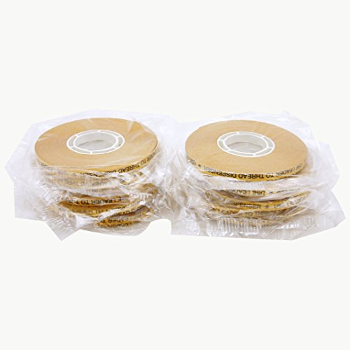 (JVCC ATG-7502 ATG Tape (Acid Neutral): 1/4 in. x 36 yds. (Clear Adhesive on Gold Liner) [12 Pack])