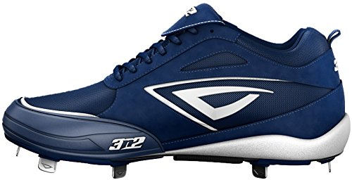 3N2 Womens Rally Metal PT Fastpitch Baseball Shoes,Navy/White,9 M US by 3N2