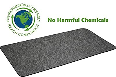 """Montana Grilling Gear Premium Grill Mat for Gas or Electric Grill - Use This Absorbent Grill Pad Floor Mat to Protect Decks and Patios from Grease Splatter and Other Messes - 30"""" X 48"""""""