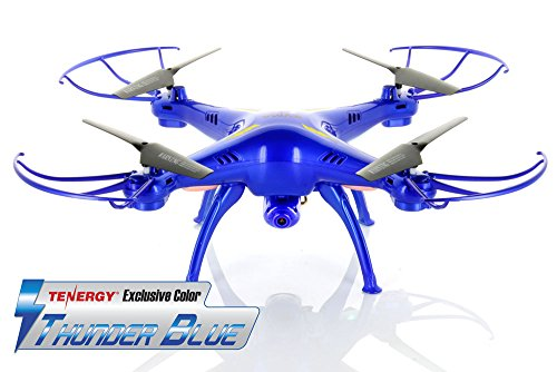 Tenergy-Exclusive-Syma-X5SC-24G-Headless-RTF-Quadcopter-with-2MP-720P-HD-Camera-Thunder-Blue-Color-Deluxe-Package-w-Extra-battery-more-fly-time-accessories