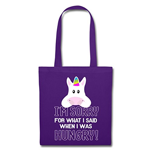 Spreadshirt Einhorn Sorry For What I Said Stoffbeutel Lila GvugV