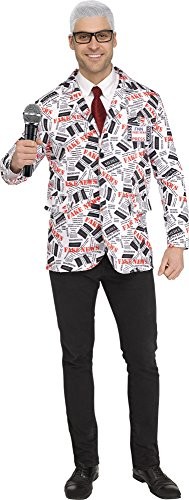 Fun World Fake News Reporter Costume for Adults - Includes Jacket and Name Tag]()