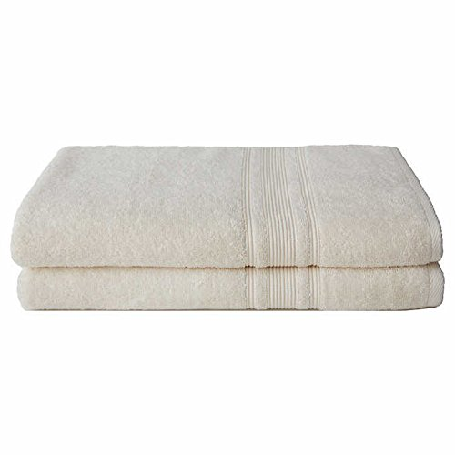 Charisma 100% Hygro Cotton 2-piece Bath Sheet Set - Ivory