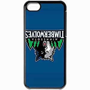 Personalized iPhone 5C Cell phone Case/Cover Skin Nba Minnesota Timberwolves 6 Sport Black