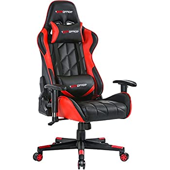 GTPOFFICE Gaming Chair Racing Style Office Ergonomic Conference Executive Manager Work Chair Leather High Back Adjustable Swivel Computer Desk Task Chair ...
