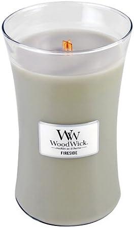Woodwick 93106 Bougie Ovale Grande Vert Verre 10 x 10 x 18 cm