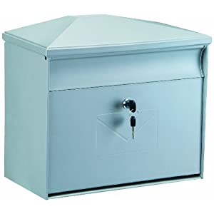 Rottner 4559 Toronto Large Capacity Front Loading Weatherproof Plastic Mailbox - Silver by DG Eyewear